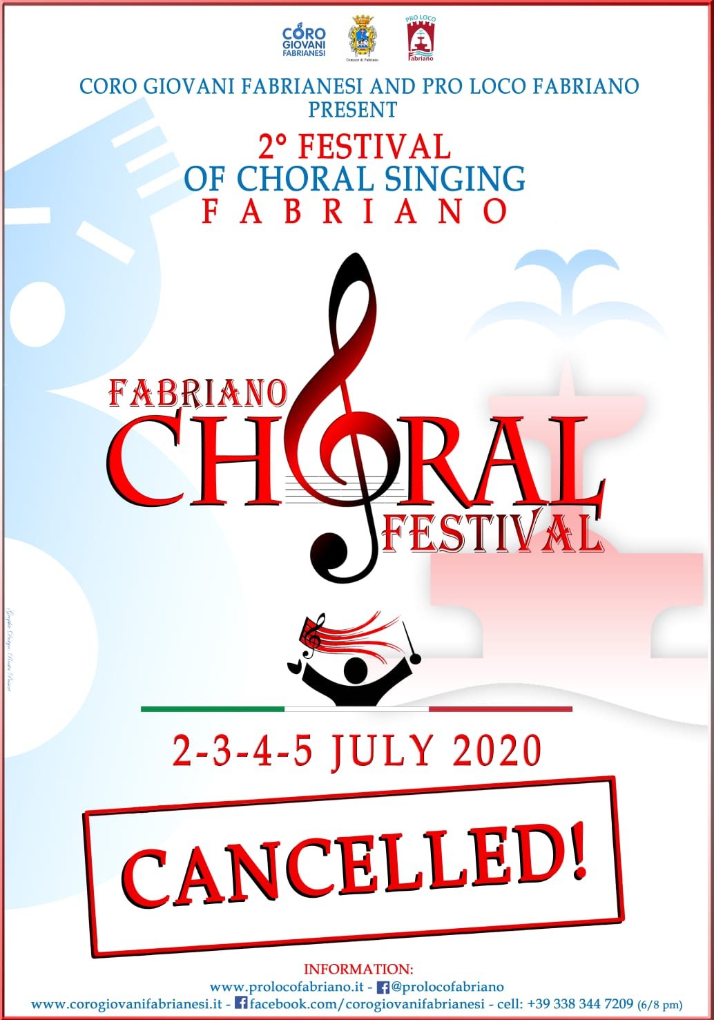 Fabriano Choral Festival cancelled